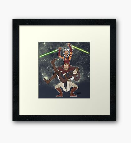 Obi Juan needs some ho Framed Print