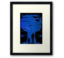Atomic Warfare - Blue Framed Print