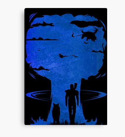 Atomic Warfare - Blue Canvas Print