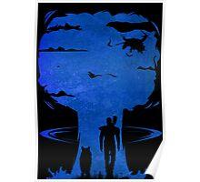 Atomic Warfare - Blue Poster