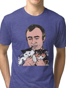 Phil Collins Kitties Tri-blend T-Shirt