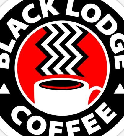 Black Lodge Coffee Sticker