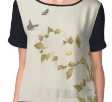 Peony flowers and butterflies, Anonymous Chiffon Top
