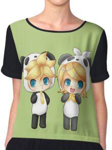 Cute Kagamine Rin and Len Panda Chibi Chiffon Top