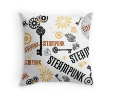 Steampunk Keys Throw Pillow