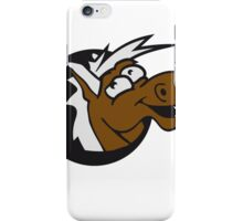 crazy funny fun face head hole comic cartoon laugh silly pony stallion iPhone Case/Skin