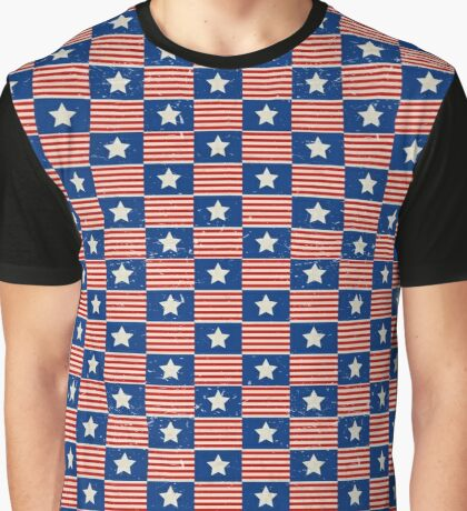 American Pattern Graphic T-Shirt