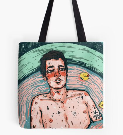 late night bathtub thinking Tote Bag