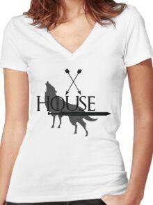 Game of Thrones - Stark Women's Fitted V-Neck T-Shirt