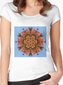 foliage mandalas Women's Fitted Scoop T-Shirt