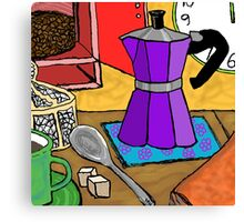 Moka Pot Joy Canvas Print