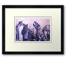 Anthro group Framed Print