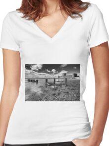 Carrickfergus Castle 1 Women's Fitted V-Neck T-Shirt