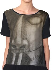 Death Comes for Us All Chiffon Top