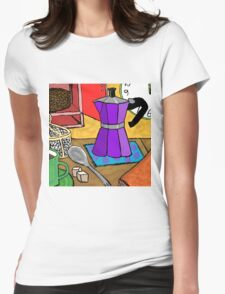 Moka Pot Joy Womens Fitted T-Shirt