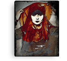 Gypsy Louise in Autumn Scarves Canvas Print