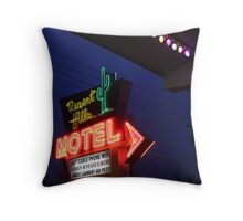 Desert Hills Motel Route 66  Throw Pillow