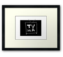 TV-Mature Framed Print