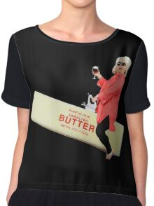 Paula deen riding butter Chiffon Top