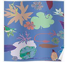 Floral Shapes Poster