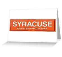 syracuse 3 Greeting Card