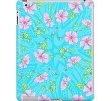 Floral 44b Aqua and Teal iPad Case/Skin