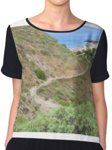 Spanish seascape Chiffon Top