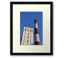 striped chimney power station Framed Print