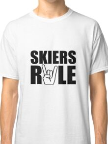 Skiers Rule Classic T-Shirt