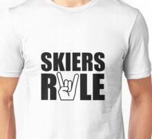 Skiers Rule Unisex T-Shirt