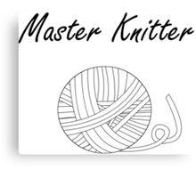 Master Knitter Canvas Print