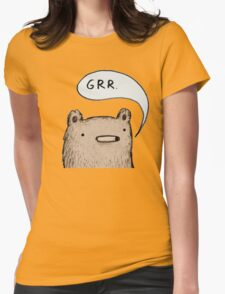 Growling Bear Womens Fitted T-Shirt