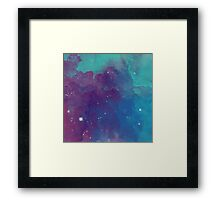 Night sky [watercolor] Framed Print