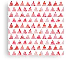 Watercolor triangles pattern Canvas Print