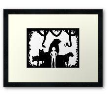 Boy in the wild Framed Print