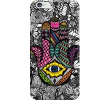 Colorful Hand Drawn Hamsa Hand an Floral Drawings iPhone Case/Skin