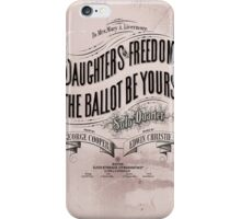 Daughters of Freedom Vote Song iPhone Case/Skin