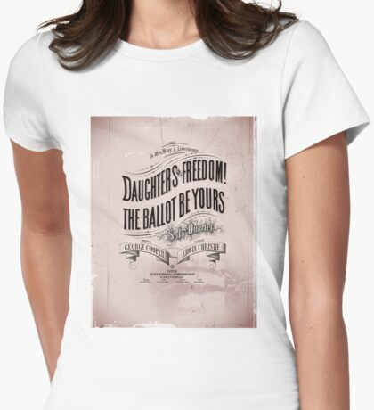 Daughters of Freedom Vote Song Womens Fitted T-Shirt