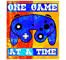 ONE GAME AT A TIME Photographic Print