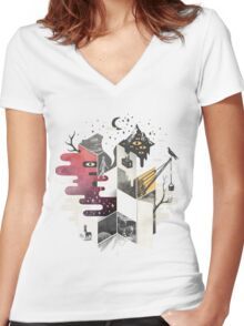 Jung at Heart Women's Fitted V-Neck T-Shirt