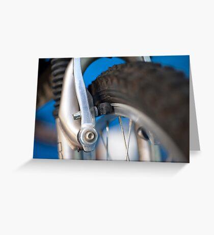 Mountain bike brakes Greeting Card