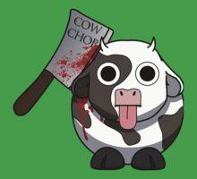 Cow Chop Bloody Knife Baby Tee