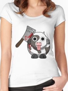 Cow Chop Bloody Knife Women's Fitted Scoop T-Shirt