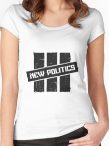 New Politics Logo Women's Fitted Scoop T-Shirt
