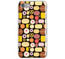 Seamless graphic pattern with delicious cookies iPhone Case/Skin