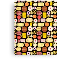 Seamless graphic pattern with delicious cookies Canvas Print