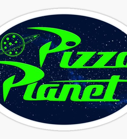 Pizza Planet Space Sticker