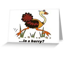 Ostrich, in a Hurry! Greeting Card