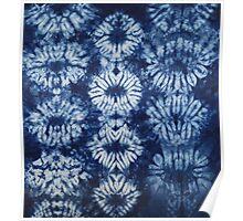 Blue Tie dye - Indigo Poster