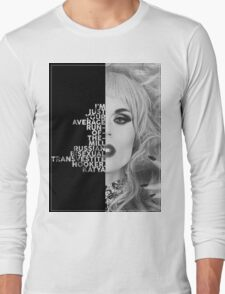 Katya Text Portrait Long Sleeve T-Shirt